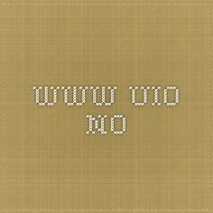 www.uio.no