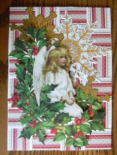 Christmas card using Anna Griffin, Inc. Pop Up Christmas Cards, Christmas Pops, Pop Up Cards, Christmas Angels, Xmas Cards, Holiday Cards, Vintage Christmas, Christmas Crafts, Parchment Cards