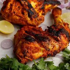 Chicken Tandoori without tandoor or oven - Mediaa Indian Chicken Fry Recipe, Tandoori Chicken Recipe Indian, Tandoori Chicken Marinade, Chicken Tikka Masala Rezept, Tandoori Recipes, Kebab Recipes, Indian Food Recipes, Indian Fried Chicken, Bon Appetit