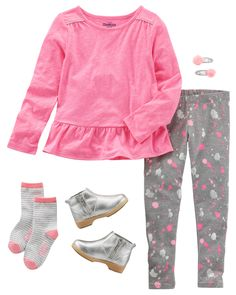 You can never go wrong with a tunic, leggings and ankle boots! Simple yet still very on-trend, this outfit will take her from the classroom to afterschool activities.