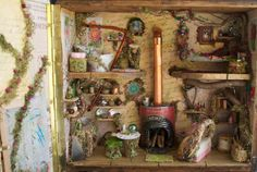 Fairy House, House Fairy, Borrower, Mouse House made from Vintage Amplifier
