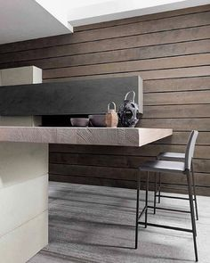 #artofinteriors_kitchens  #woodandconcrete #kitchendesign #kitchendesigners #interiordesign #interiorarchitecture #modernkitchens #kitchendecor #tehran #artofinteriors by artofinteriors Great design ideas for a modern kitchen remodel.