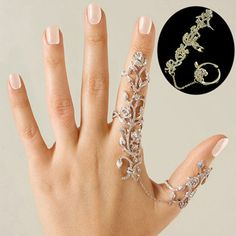 Women Multiple Rose Crystal Stack Knuckle Band Finger Rings Set Fashion Jewelry #seattle2003us #Cluster
