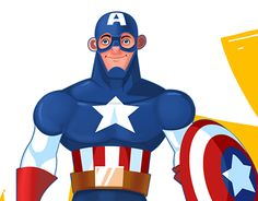 "Check out new work on my @Behance portfolio: ""Captain america!!!"" http://on.be.net/1LkQD75"