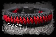 Dragon's Teeth Paracord Bracelet by SurfCityParacord on Etsy