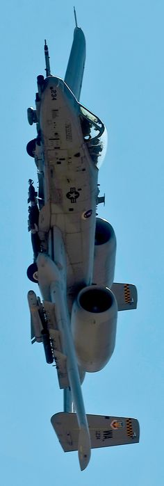 A-10 Thunderbolt. Best close-air ground support weapon in our arsenal. Was privileged to watch these awesome machines fly during early testing days. And go to training at Fairchild training center Long Island New York to work on them.