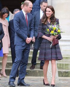 Business as usual: The Duke and Duchess of Cambridge are today going about their planned schedule in Paris despite a shooting at the city's Orly airport