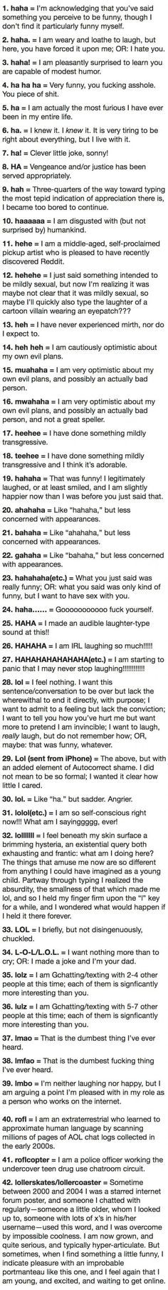 The anatomy of a laugh.