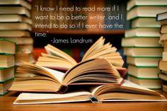 James Landrum's Advice on Reading #BookHugs #BooksThatMatter #BloomingTwigBooks #BloomingTwig #Books