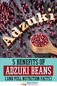 What nutritional benefits do adzuki beans offer? Here's a complete guide. #beans #legumes #nutrition Beans Nutrition, Nutrition Articles, Diet And Nutrition, Beans Benefits, Lower Ldl Cholesterol, Lectins, Protein Sources, Different Recipes, Cooking Time