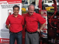 Jerry Soto and Terry Aylward of Griffin Pump at ConExpo 2014.