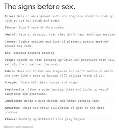 Zodiac signs of sex and love