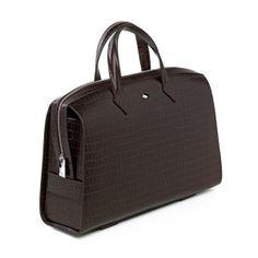 Bolso ejecutivo de la colección Holmes, en piel marrón grabada y detalles de acero. http://www.unionsuiza.com/tienda/product.php?id_product=80