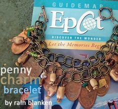 Pressed Penny charm bracelet from Disney parks & resorts-- wonderful keepsake