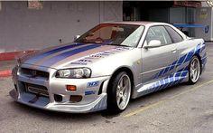 1999 Nissan Skyline GT-R - The Coolest Fast and Furious Cars Nissan Gtr R34, Skyline Gtr R34, Fast And Furious Autos, Chevrolet Camaro, Chevrolet Corvette, Porsche Panamera Turbo S, Mitsubishi Eclipse, Mitsubishi Lancer, Ford Mustang