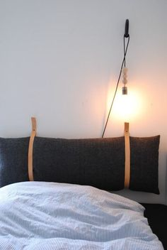 Trying To Find DIY Headboard Ideas? There are numerous economical ways to create a distinct distinctive headboard. We share a couple of brilliant DIY headboard ideas, to inspire you to design your room trendy or rustic, whichever you prefer. Home Bedroom, Bedroom Decor, Bedroom Sets, Modern Bedroom, Bedding Sets, Bedrooms, Wall Decor, Diy Interior, Interior Design