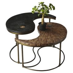 2 Piece Yin Yang Cocktail Table Set