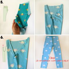 Tutorial and free mold children's leggings img 2 Sewing Kids Clothes, Baby Clothes Patterns, Doll Sewing Patterns, Baby Sewing, Clothing Patterns, Diy Clothes, Baby Leggings Pattern, Peasant Dress Patterns, Pajamas Women
