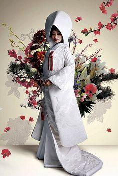 Japanese Wedding Kimono, Japanese Kimono, Japanese Beauty, Japanese Fashion, Traditional Fashion, Traditional Outfits, Geisha, Oriental Dress, Japanese Costume