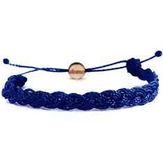 Domo Beads Mini Braided Retractable Bracelet   Navy Blue ($10) ❤ liked on Polyvore featuring jewelry, bracelets, accessories, blue, navy, navy bracelet, navy blue bracelet, braided bracelet, nylon bracelet and navy blue jewelry