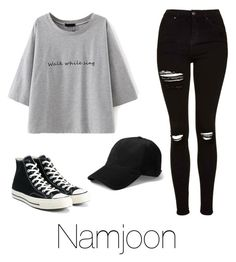 """Casual date with Namjoon"" by infires-jhope on Polyvore featuring Topshop and Converse"