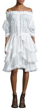Faith Connexion Off-the-Shoulder Sailor Dress