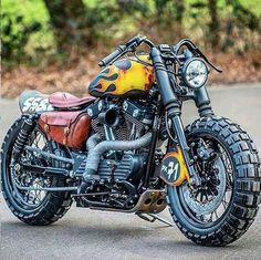 Harley DavidsonYou can find Bobber motorcycle and more on our website. Retro Bikes, Scrambler Motorcycle, Moto Bike, Sportster Scrambler, Motorcycle Helmets, Softail Bobber, Women Motorcycle, Bobbers, Yamaha 535 Virago