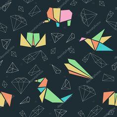 Afbeeldingsresultaat voor geometrische origami dieren patronen