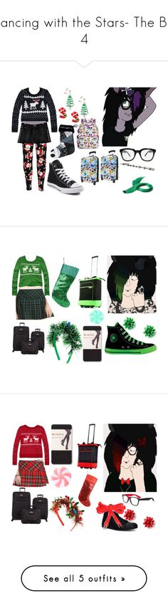 """Dancing with the Stars- The Big 4"" by brainyxbat ❤ liked on Polyvore featuring INDIE HAIR, Abbey Dawn, Converse, claire's, Disney, Abercrombie & Fitch, Olympia, Skyway, Rad+Refined and Hot Topic"