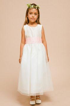 Tantalizing Tulle Zipper Ankle-Length Flower Girl Dress