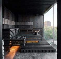 Contemporary Saunas, Modern Saunas, Alpine Spas, Spa Interior Design, Sauna Design, Lake Resort, Natural Building, Luxury Spa, Home Spa