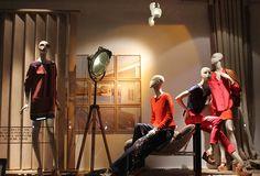 Massimo Dutti window displays 2012, London visual merchandising