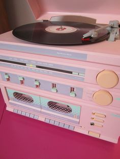 "pastel record/cassette player?? my dream... <a href=""http://zzzzgirl.tumblr.com/post/33129246820"" rel=""nofollow"" target=""_blank"">zzzzgirl.tumblr.c...</a>"
