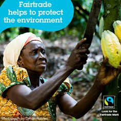 Fairtrade rewards and encourages farming and production practices that are environmentally sustainable. Producers are also encouraged to strive toward organic certification.