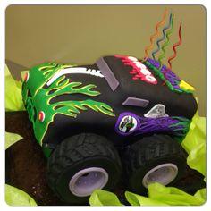 Monster Truck Cake Grave Digger