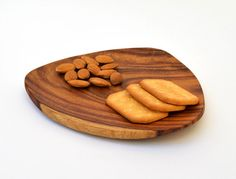 Abstract triangle wooden plate for snacks or by OmarHandmade