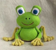 Cute crocheted frog