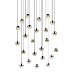 24 Light Round Small LED Pendant
