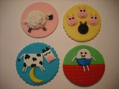Cupcake Toppers for Nursery Rhyme Party