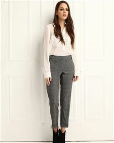 Ekose Desen Pantolon MAINA W1014
