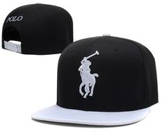 Polo Snapback Hats Black White|only US$6.00 - follow me to pick up couopons.