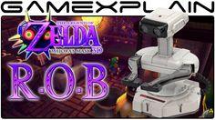 R.O.B. in Zelda: Majora's Mask 3D (Secret Easter Egg). My favorite character in Super Smash Bros. in TLOZ: Majora's Mask. Awesome!