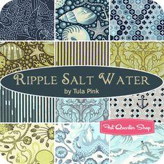 LOVE this!!!    Ripple Salt Water Fat Quarter Bundle Tula Pink for Free Spirit Fabrics - Fat Quarter Shop