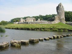 Ogmore Castle The southeastern coastline of Wales is its most industrialized region, and contains its largest cities, Cardiff and Swansea. The portion of the M4 motorway that tracks through the south of Wales, from the Severn Bridge to just a few miles west of Swansea, offers dramatically contrasting vistas and some of the most chaotic traffic to be found in Wales, thanks to the never-ending construction and the never-ending factories.