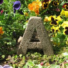 garden letters made of cement, perlite, peat moss