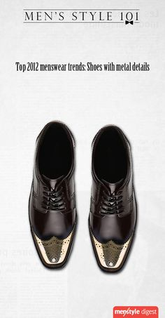 Metal details in shoes, one of the top trends in menswear for 2012
