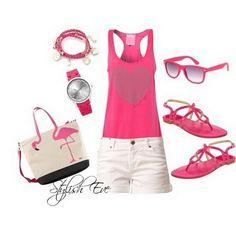 Short y blusa color rosa