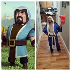 My son, the wizard from Clash of Clans.