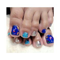 ⚡⚡Electric Blue⚡⚡ Nail done by @mo32ee thank you #toe #toeart #toenails #pedicurecare #pedicure #gelnail #nail #nails2inspire #nailswag #nailart #nailartdesign #nailartlover #nailsfashion #nailclub #summernail #summertime #夏ネイル #ネイル  #ペディキュア #ネイルアート