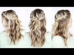 Twisted Crown Braid - YouTube
